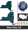 map new york us vector image vector image