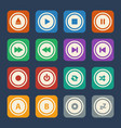media player buttons flat design vector image vector image