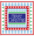 Merry Christmas in tile vector image vector image