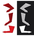 moders set isometric arrows vector image