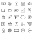 Money line icons on white background vector image vector image