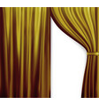 naturalistic image of curtain open curtains red vector image vector image
