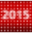 Numbers 2015 with snowflakes vector image