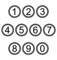 numbers symbols icons signs black and white set 2 vector image vector image