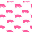 pig silhouette seamless pattern pork meat vector image vector image