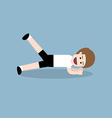 planking with lift leg exercise vector image vector image