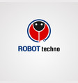 robot techno logo icon element and template for vector image vector image