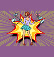 selfie stick girl vector image vector image