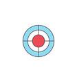 seo target bullseye symbol successful business vector image vector image