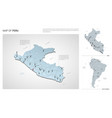 set peru country isometric 3d map peru map vector image vector image