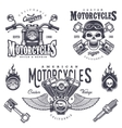 Set vintage motorcycle emblems