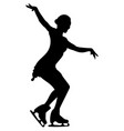 silhouettes girls skaters figure skating black vector image