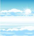 sky with clouds vector image