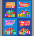 special offer big sale super price 20 off discount vector image