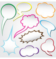 speech bubble dialog vector image vector image