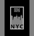 t-shirt printing design nyc emblem new york vector image vector image
