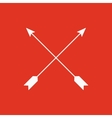 The arrow icon Arrows symbol Flat vector image vector image