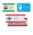tickets for public transport flat isolated vector image vector image