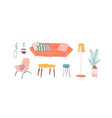 trendy furniture hand drawn vector image