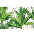 tropical bananas palm textural seamless vector image
