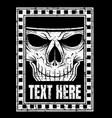 vintage head skull hand drawing vector image vector image