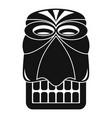 wood tiki idol icon simple style vector image vector image