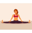 yoga girl doing splits vector image