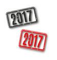 rectangular stamp 2017 vector image