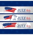 Fourth of July Eagle USA flag EPS 8 vector image