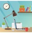 Modern creative workspace with work vector image