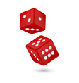 red realistic game dice vector image