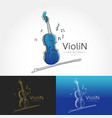 stylized image of violin vector image