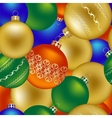 Seamless pattern of Christmas decorations vector image