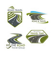 road travel and tourism icons set