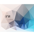 Abstract modern crystal background vector image vector image