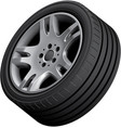 aluminium alloy wheel vector image vector image