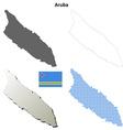 Aruba outline map set vector image vector image