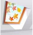 Autumnal wet window vector image vector image