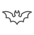 bat line icon animal and halloween dracula sign vector image vector image
