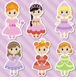 Big set of beautiful princesses vector image vector image