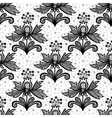Black lace flower isolated on white background vector image vector image