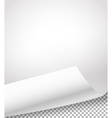 blank paper sheets with bending corner on vector image