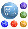 brand truck icons set vector image