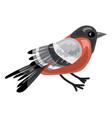 bullfinch icon cartoon style vector image