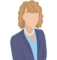 businesswoman wearing business clothes vector image