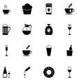 cafe icon set vector image vector image