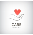 charity medical care help logo icon vector image vector image
