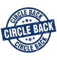 circle back blue round grunge stamp vector image vector image