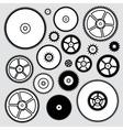 clock gears vector image vector image