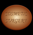 cosmetic surgery vector image